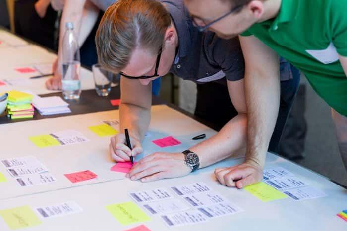 Kunden von Me & Company arbeiten im Rahmen eines Integration Sprint co-kreativ zusammen
