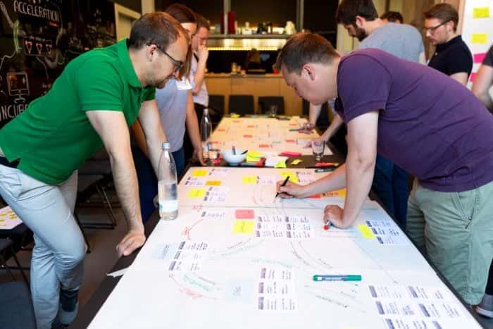 Teilnehmer eines Switch Strategy Sprints von Me & Company