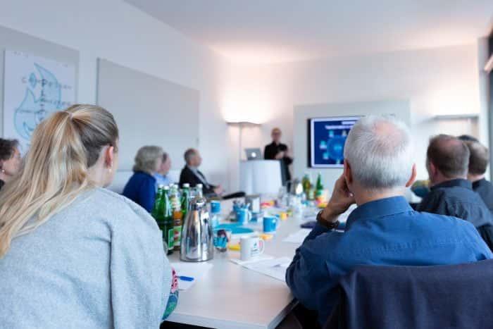 Vortrag von Me & Company Mitarbeiter im Rahmen eines Neuarbeit Projekts der Essener Wirtschaftsförderung