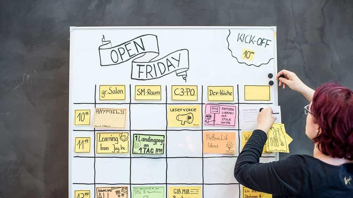 sipgate: Open Friday Planungsnboard