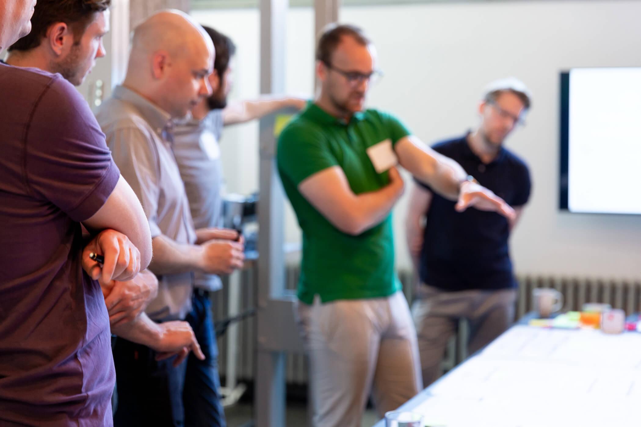 Offene Diskussion im agilen Team