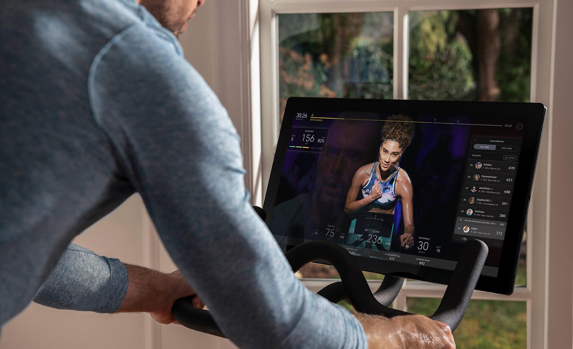 Peleton Trimmrad mit virtuellem Workout