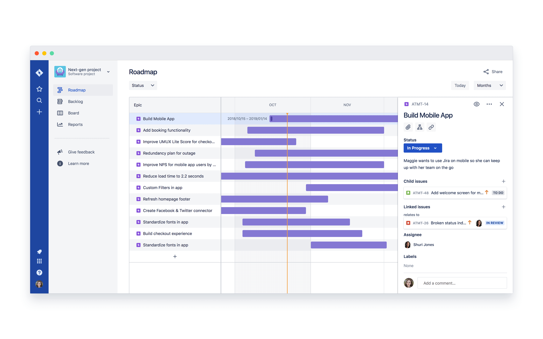 Atlassian Agile Roadmaps für agile Führung