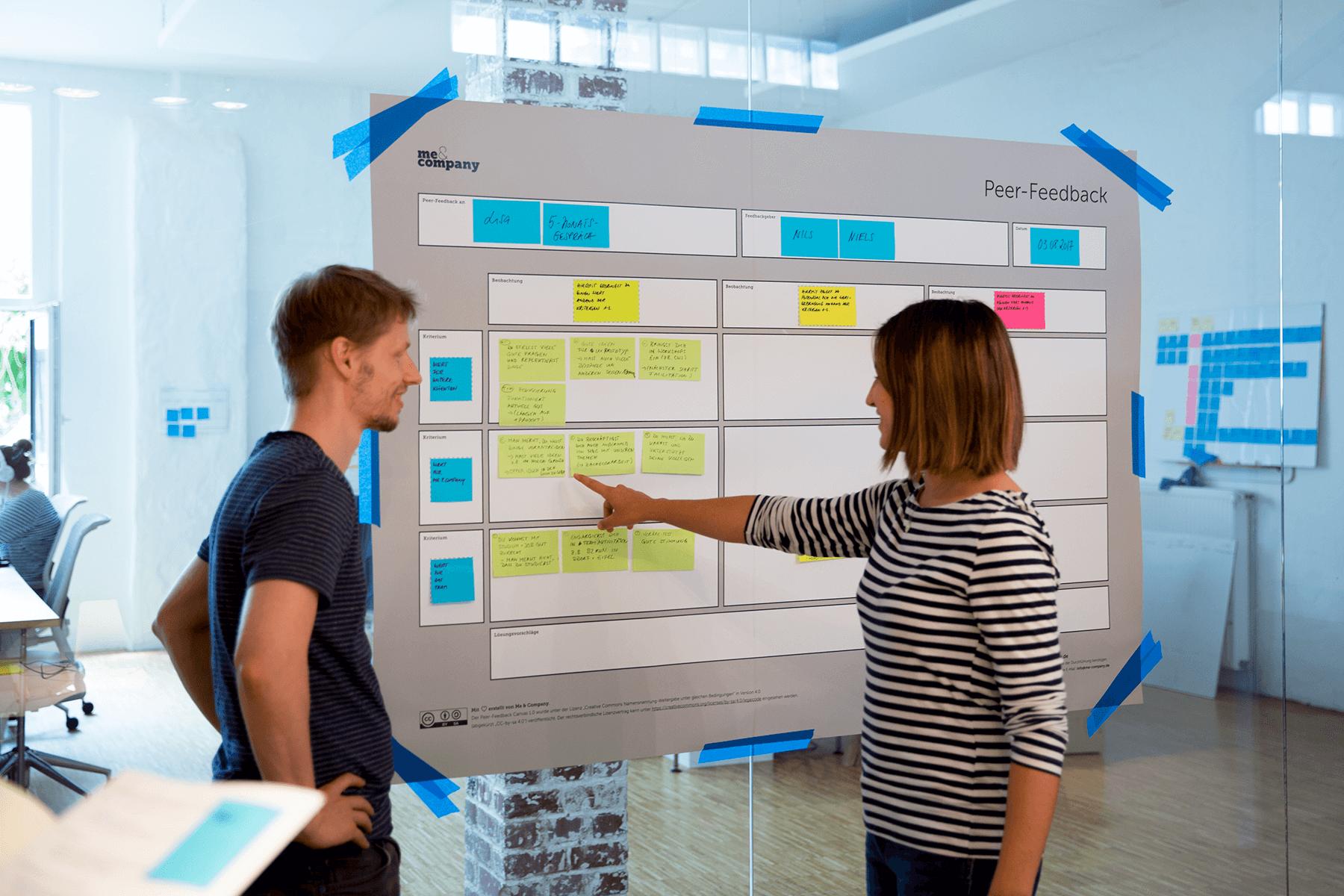 Peer Feedback als Teil des Agile Performance Managements bei Me & Company
